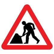 Men At Work Mini Quick Fit Sign (750mm - 300mm Centres)