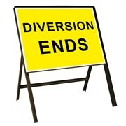 Diversion Ends Metal Sign (1050mm x 750mm)