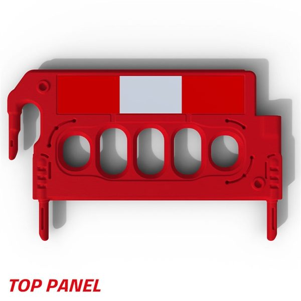 The Mini Double Top Panel is designed to locate into various barrier systems in order to increase their height. Compatible with the Hog, Buddha and WonderWall barriers.