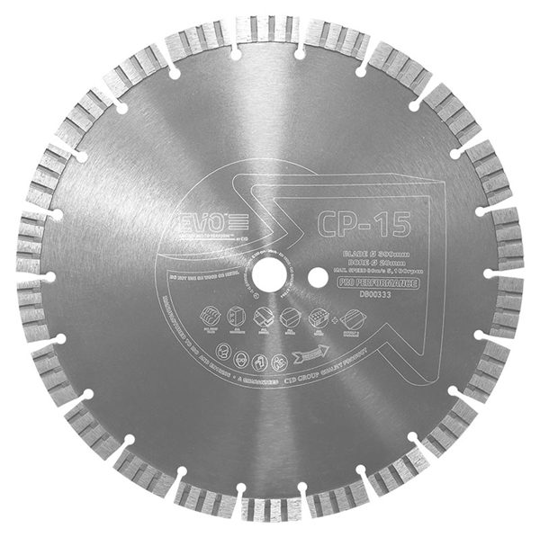 The CP-15 Pro Diamond Blade is a professional general purpose/concrete cutting diamond blade.