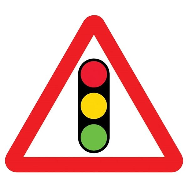 Traffic Light Mini Quick Fit Sign (750mm - 300mm Centres)