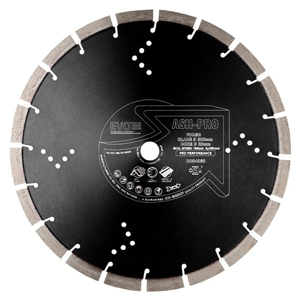 The Ash Pro diamond blade is a specialist diamond blade for asphalt and abrasive applications.