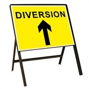 Diversion Up Arrow Metal Sign (1050mm x 750mm)