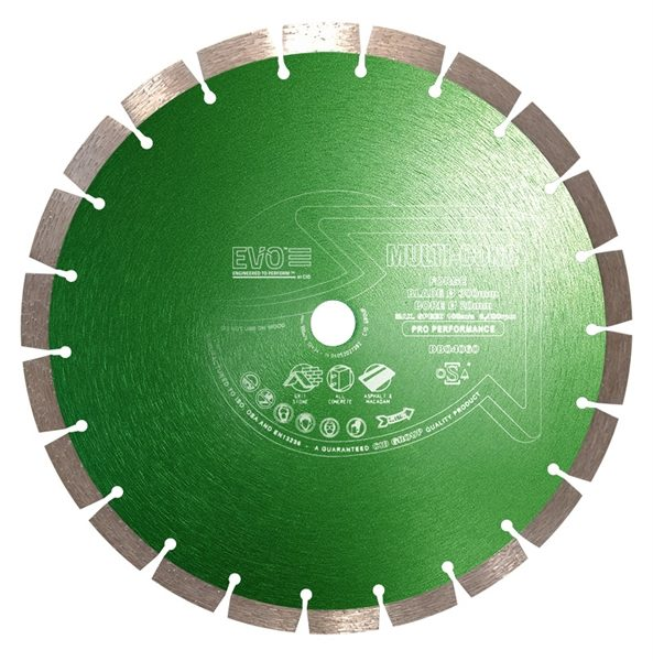 The Multi-Conc Pro Diamond Blade is a professional long life blade which cuts asphalt, brick, concrete and reinforced concrete.