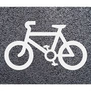 Thermoplastic Heat-On Cycle Lane Shape (White)