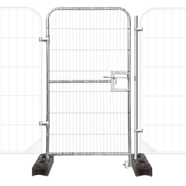 1m Pedestrian Gate (Round Top) suitable for use with round top temporary site fencing.