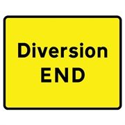 Diversion End Arrow Mini Quick Fit Sign (1050mm x 750mm - 300mm Centres)