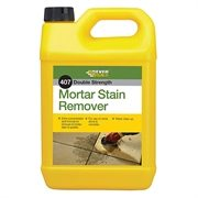 A fast acting mortar stain remover for dissolving mortar and cement stains on surfaces such as brick, render and concrete