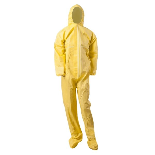 Yellow Type 3/4/5/6 disposable coverall