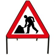 Men At Work Metal Sign