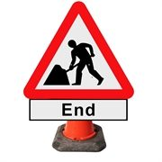 Men At Work End Cone Sign