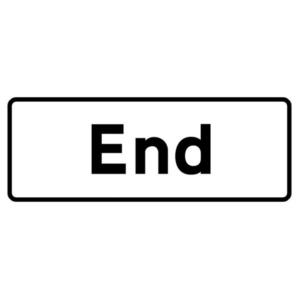 End Mini Quick Fit Sign (1050mm x 450mm - 300mm Centres)