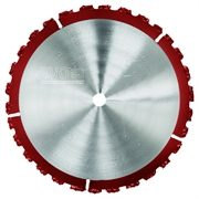 The Ripper Diamond Blade has a tungsten tip blade and is suitable for cutting masonry, rubber, wood and plastic.